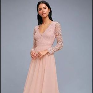 Lulus awaken my love dress in blush. Brand new!